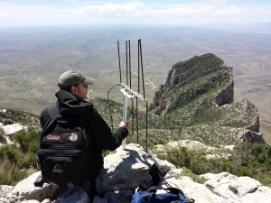 SOTA QSO to Big Bend from Guadalupe Peak on VHF